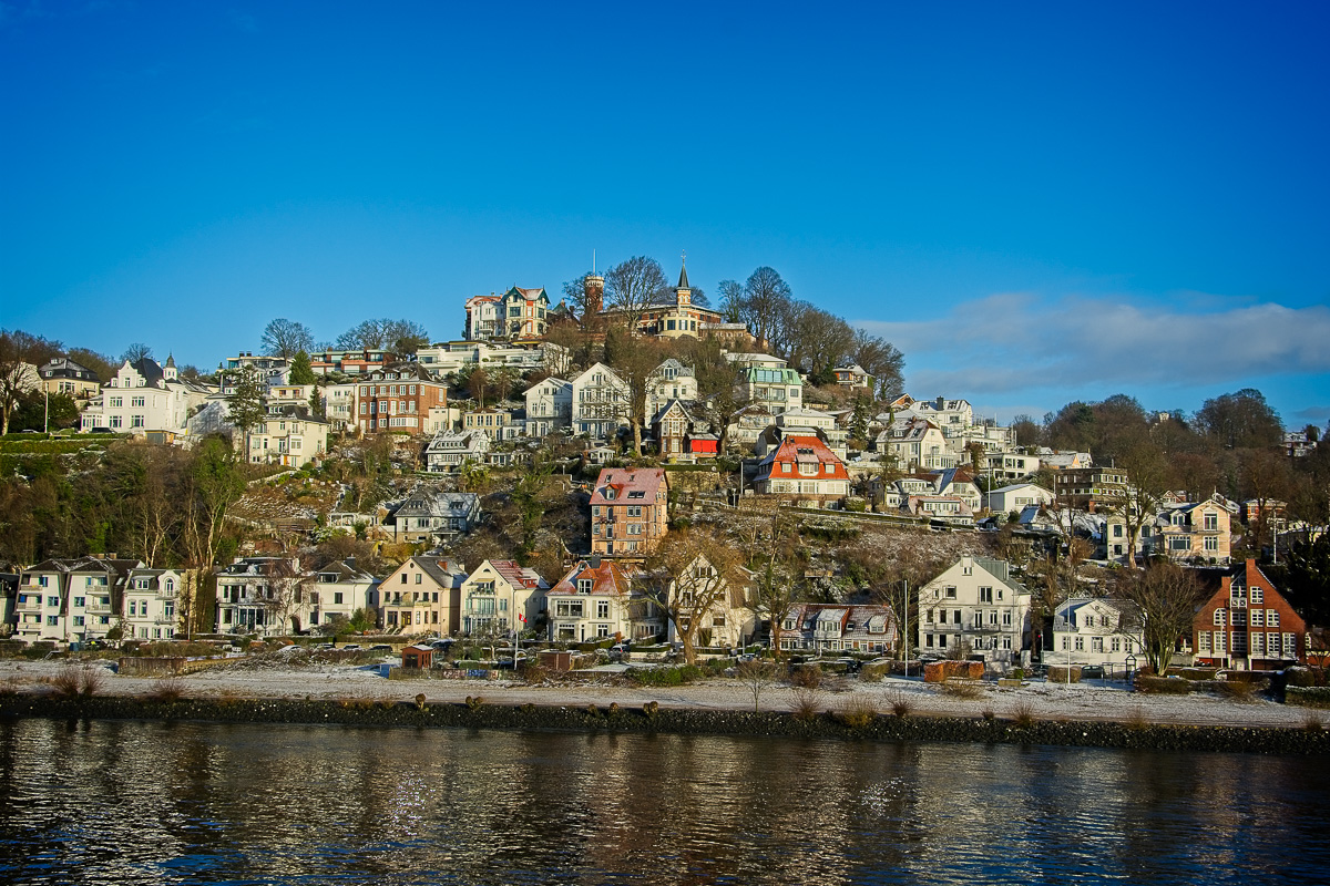 Houses on the banks of the Elbe