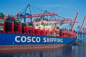 Containerschiff und Kräne