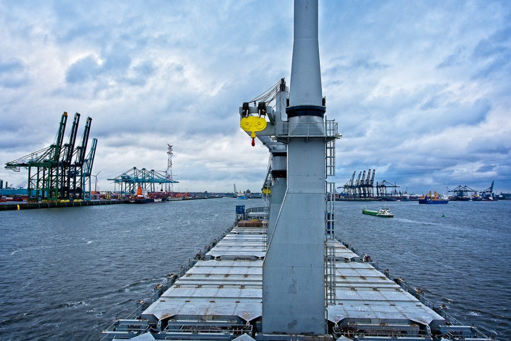 Container port near Zandvliet in Belgium