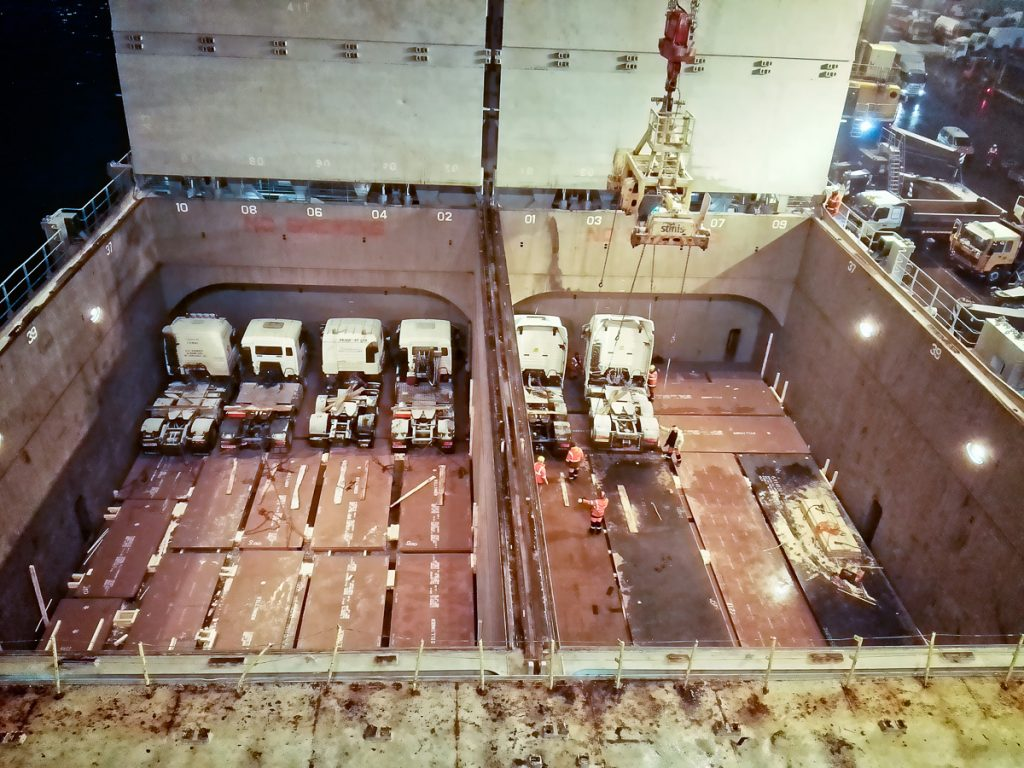 trucks in the hold