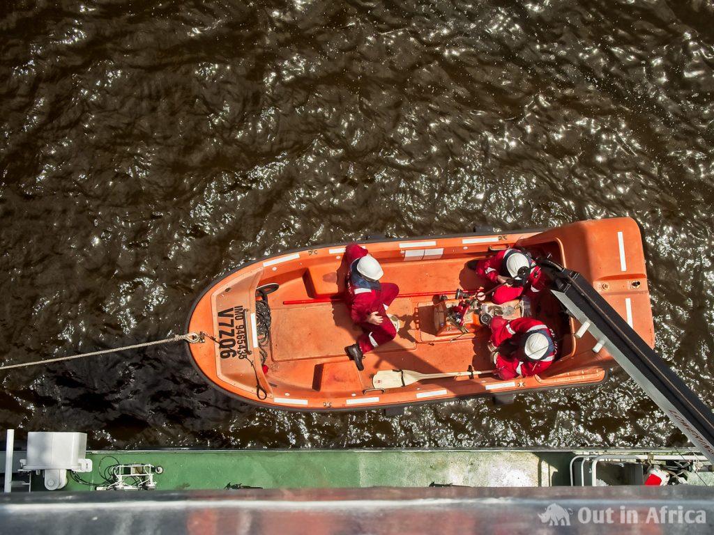 Kleines Rettungsboot