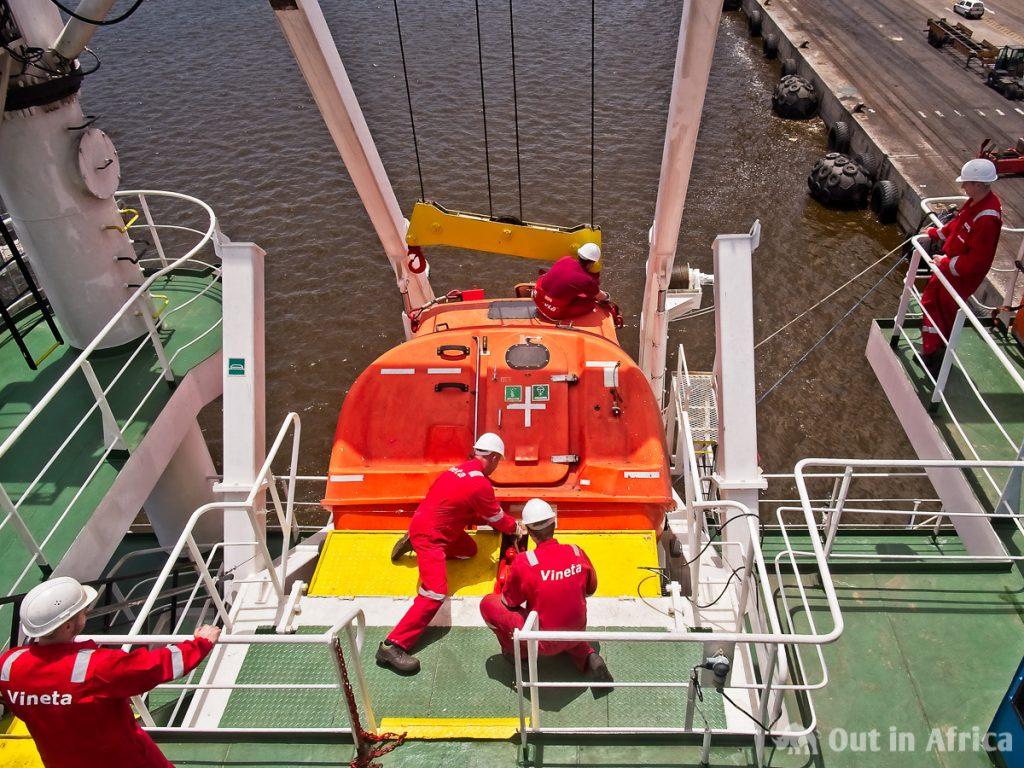 Überprüfung des Rettungsboots