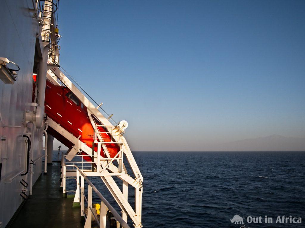 Das Rettungsboot vom C-Deck