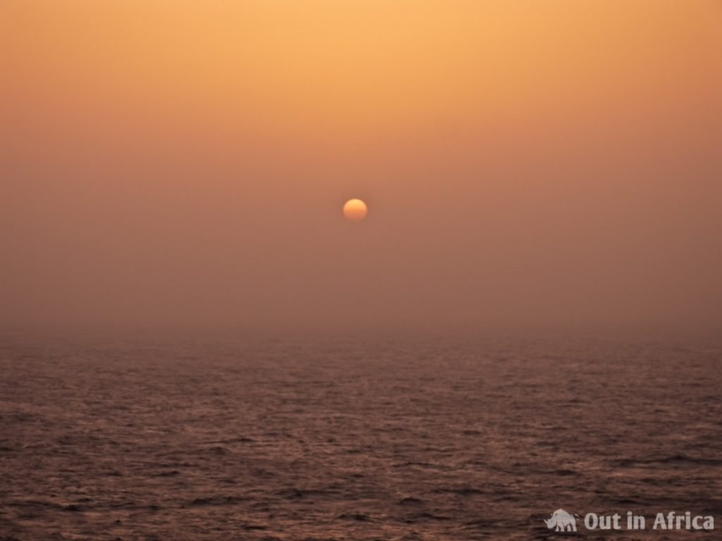 Sonnenuntergang im Saharastaub