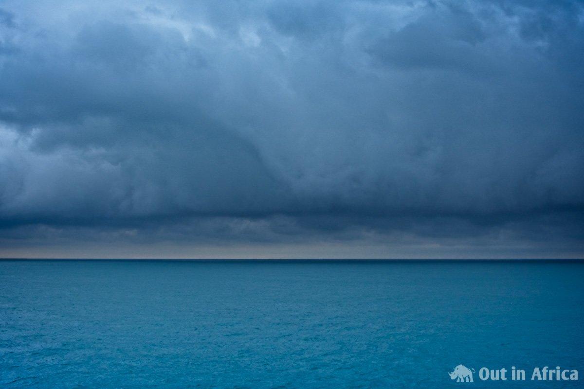 Cloud bank over the ocean