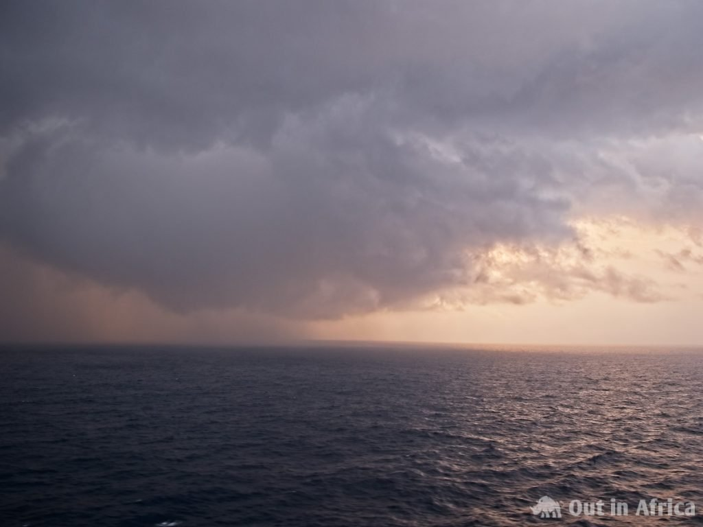 Regen über dem Atlantik