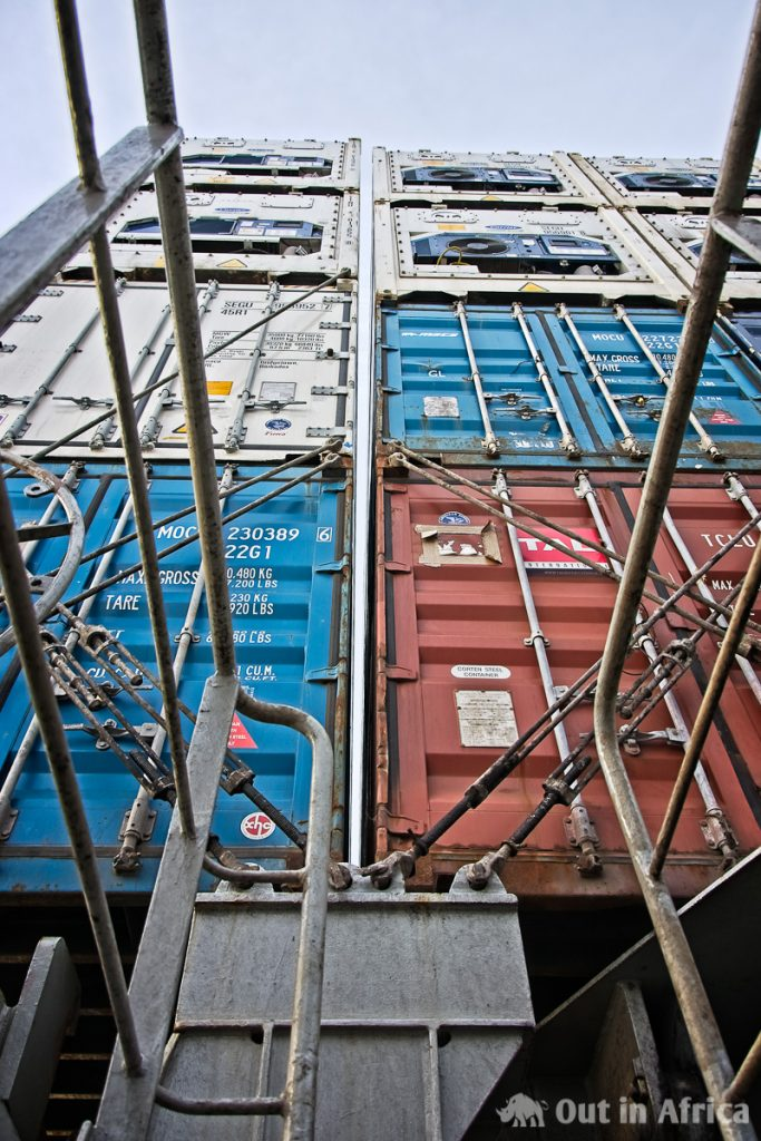 Sicherungsstangen für Container
