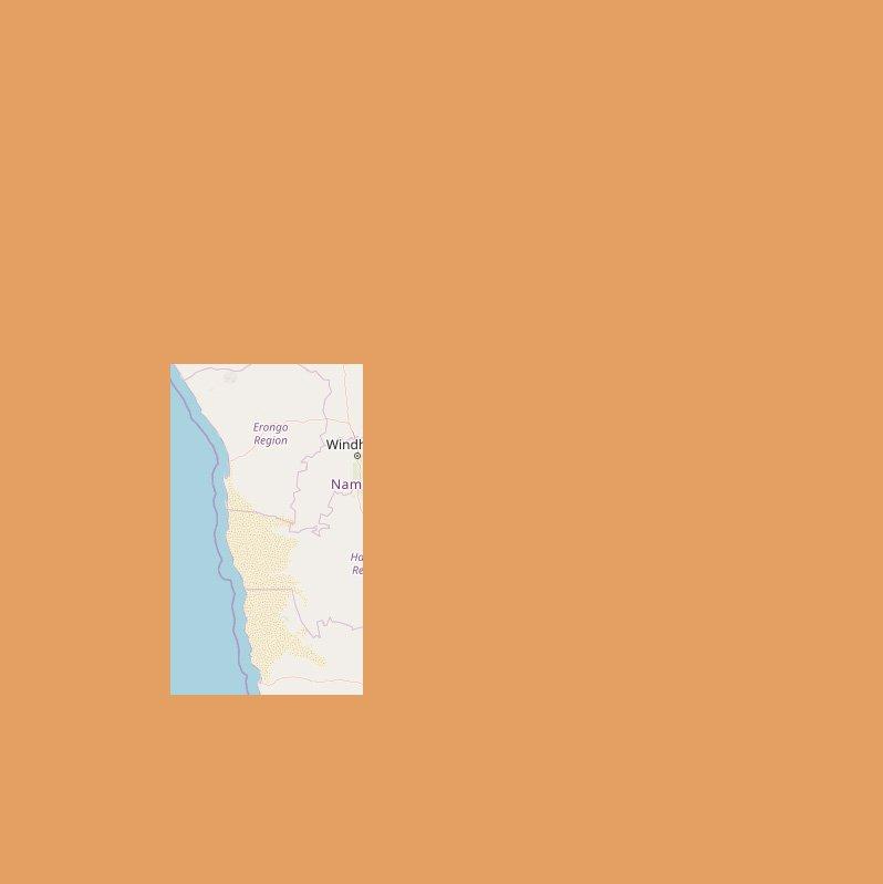 Karte Namibia-Namib
