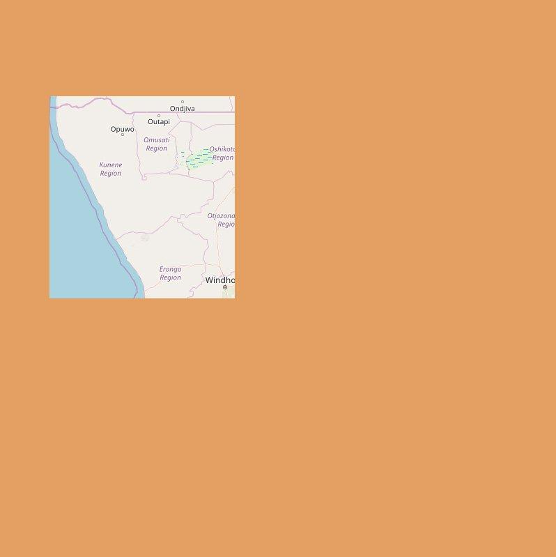 Karte Namibia-Nordwesten