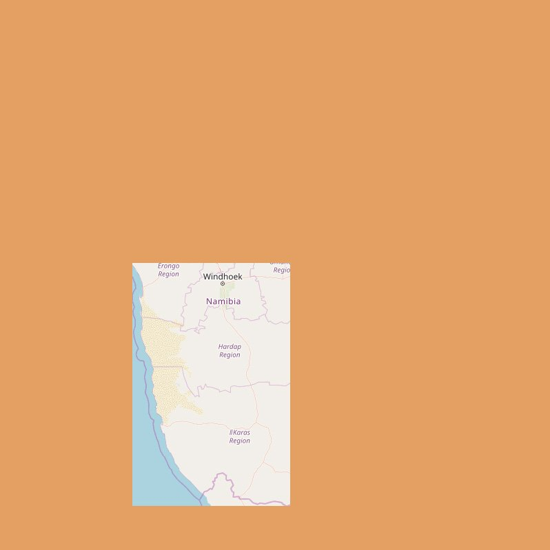 Karte Süden Namibia