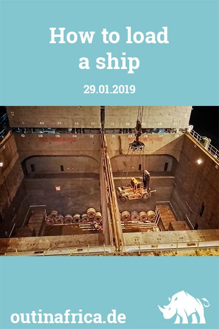29.01.2019 - Wie man ein Schiff belädt