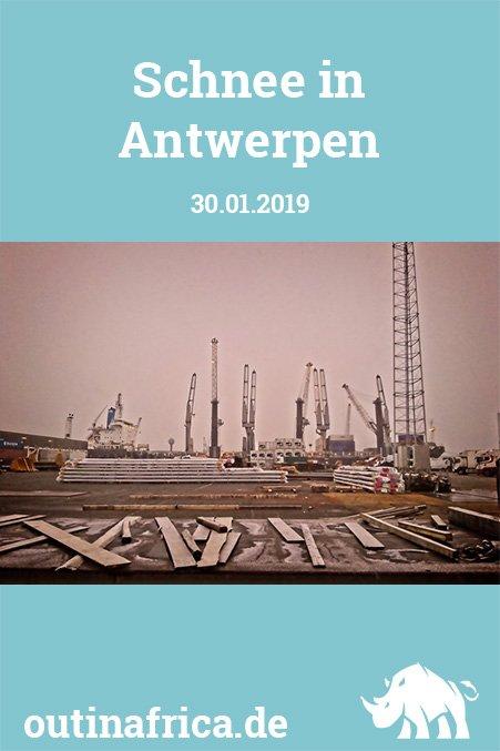 30.01.2019 - Schnee in Antwerpen