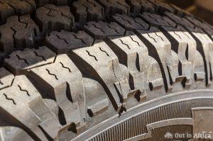 Seitenrand vom Reifen