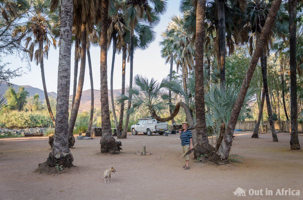 Campsite at the Kunene