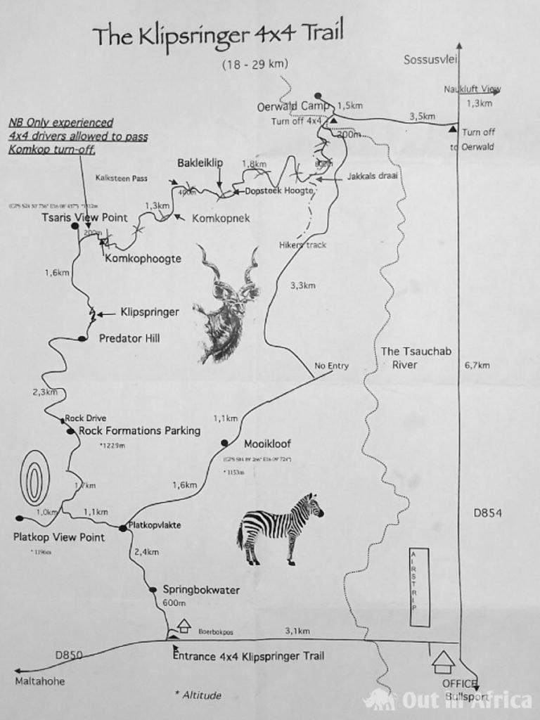 Karte Klipspringer 4x4 Trail