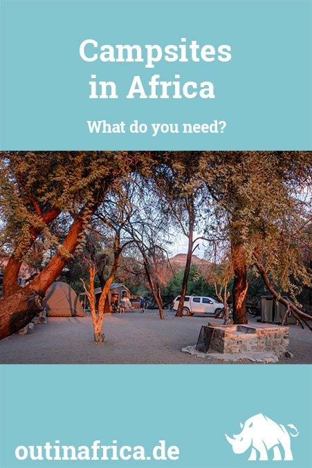 Campsites in Africa
