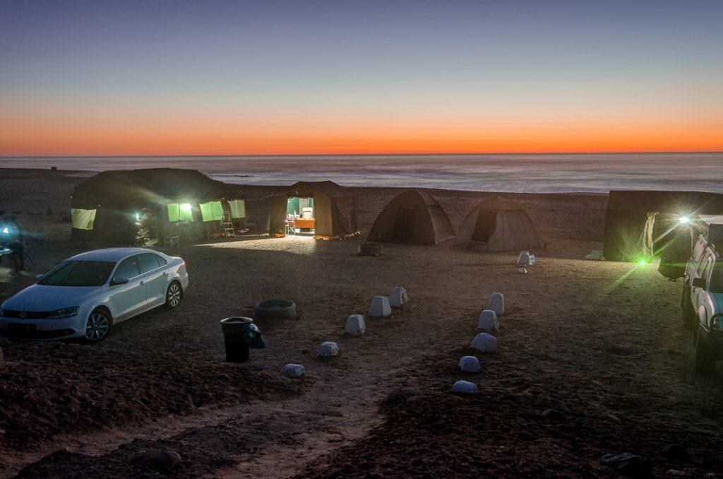 Campingplatz am Abend
