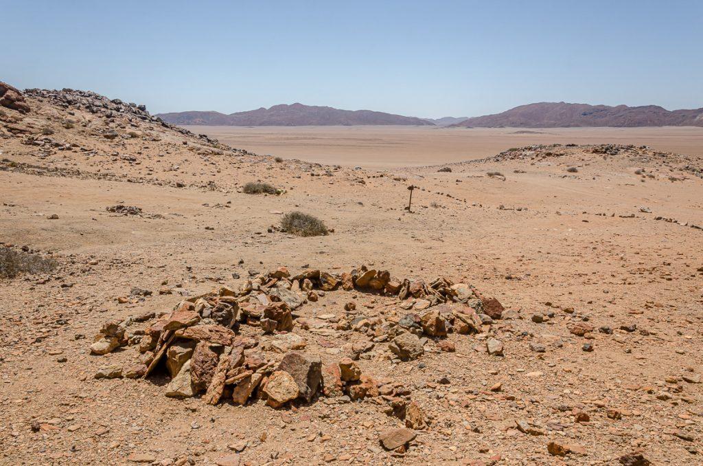 Prähistorische Hüttenringe bei Bakkrans im Messumkrater